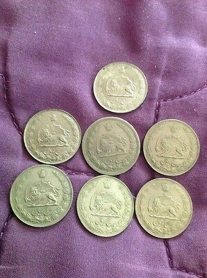 Iranian 5 Rial Coins (Set Of 7)