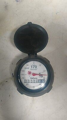 "NEW BADGER WATER METER 2"" 170 RECORDALL REGISTER HEAD Gallons"