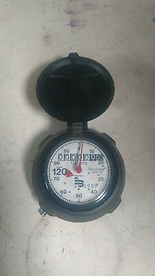 """NEW BADGER WATER METER 1"""" 1/2  120 RECORDALL REGISTER HEAD Gallons"""