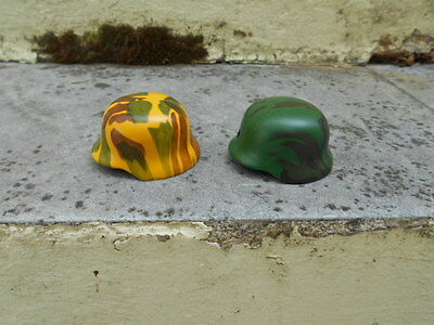M35 Green And Yellow  Camo Helmet - Lighters  Lot (2)