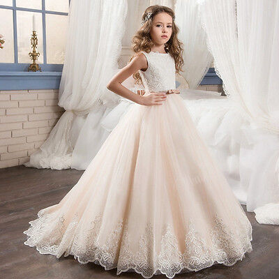 2017 Wedding Party Formal Flower Girls Dresses Baby Lace Tulle Pageant Dresses¥