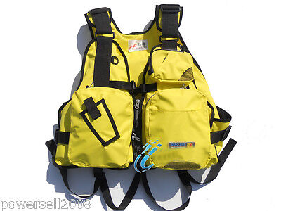 LQX098 Collapsible Professional Multi-function Life Yellow Jacket/Fishing vest