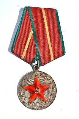 USSR ORIGINAL XX years KGB SILVER MEDAL''For faultless service 20 year''!