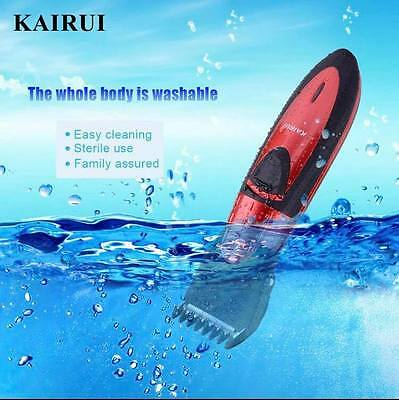 New&TOP Full Waterproof Rechargeable Hair Clipper Trimmer Shaver Razor Cordless