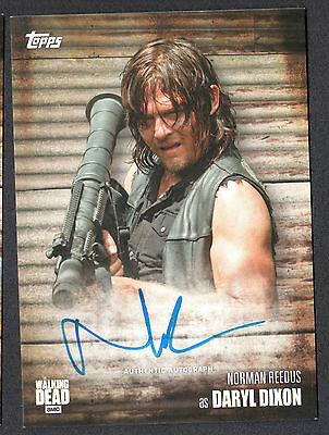 THE WALKING DEAD SEASON 6 AUTOGRAPH CARD TOPPS 2017 NORMAN REEDUS as DARYL DIXON