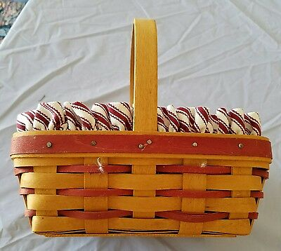 1997 Longaberger Sweetheart Sweet Treats Basket Combo Red Accent Weaving