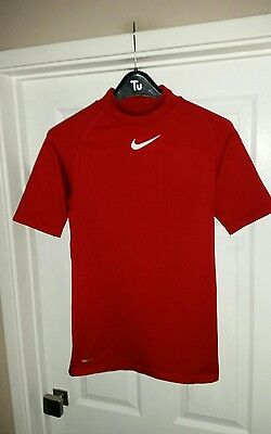 Nike Pro Dri-Fit Mens Red Base Layer Size Medium