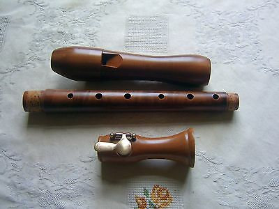 Beautiful Mollenhauer  Chorus Alto / Treble Recorder, Baroque, with Key Pearwood