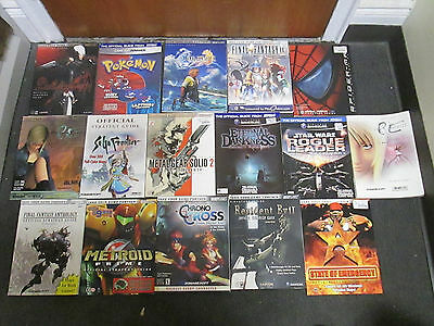 Lot of 16 video game strategy guide books