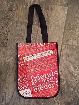 Set of 2- New Lululemon Reusable Red Manifesto Tote Bags with Snap