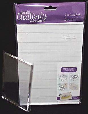 Clear Blocks for Cling Stamps All New A5 docrafts Creativity Essentials URChoice