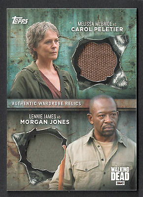 THE WALKING DEAD SEASON 6 Topps 2017 DUAL COSTUME RELIC CARD Carol & Morgan 9/25