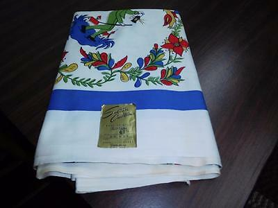 """VINTAGE 50's COLONIAL REVIAL THEMED TABLECLOTH 54"""" X 54""""  TC-#90"""