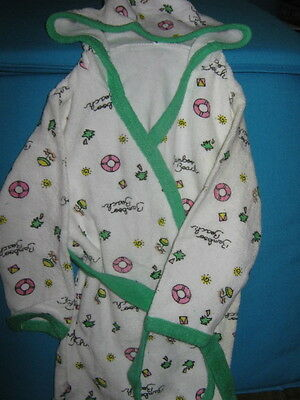 Baby bath robe dressing gown soft terry towelling vintage new stock 12/18mths