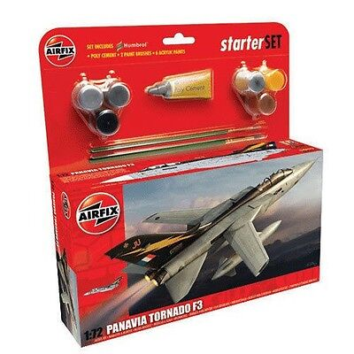 A55301 Airfix Panavia Tornado F3 Large Starter Set 1:72 Aircraft Model Kit New