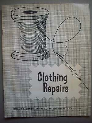 1960's Clothing Repair guide from USDA darning mending patching
