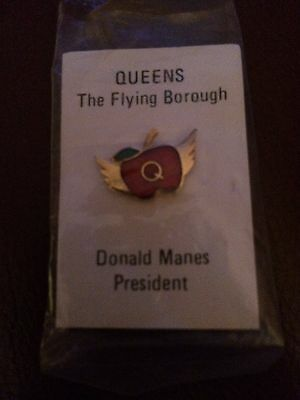 RARE DONALD MANES Tie Tack Queens New York History NEW Boro President Scandal