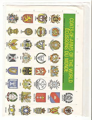 philabec01 Vintage Coats -of-arms of the world unopened pack