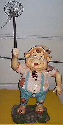"""The Laaf Collections 1999 Efteling Holland Garden Gnome Elf Lok Butterfly 24"""""""
