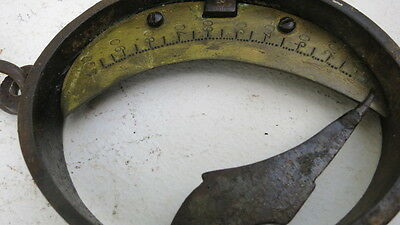 ANTIQUE  FRENCH  BRASS  &  IRON WEIGHT  SCALE 1800's
