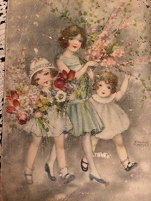 Swedish Antique Victorian Greeting  Card Lovely  Card