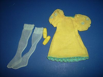Francie #1223 The Yellow Bit 1960s Mod Fashions doll clothes outfit Vtg Barbie