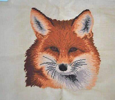 Ansley Collection Pre-Worked Needlepoint Canvas Fox 21""