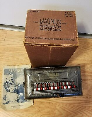 magnus chromatic accordion vintage music instrument