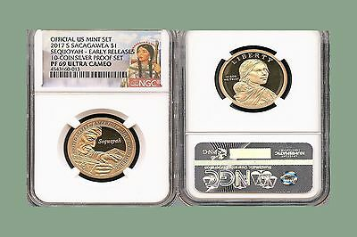 2017 S Sacagawea  Sequoyah  $1 Ngc Pf69 Ultra Cameo Early Releases