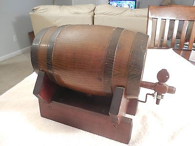 BLACK FOREST whiskey beer Barrel MUSIC BOX - Carved by max leuthold luzern