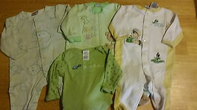 3-6 months Baby One Pieces Green Yellow Lot
