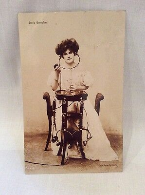 Vintage Edwardian Actress Doris Beresford RP Real Photograph Postcard 1908