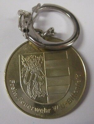 Vintage Freiw. Feuerwehr Key Chain Collectible WN Bittenfeld Germany? Fire Dept