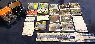 Vintage View-Master Lot 95 Reels 2 Boxed Viewers