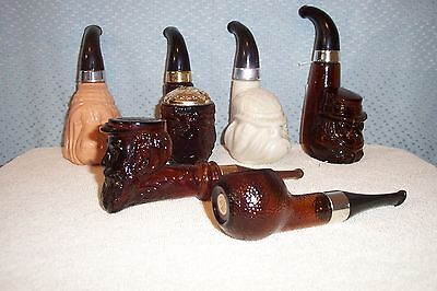 SET of 6 AVON PIPE DECANTERS MINT 1974 - 1977