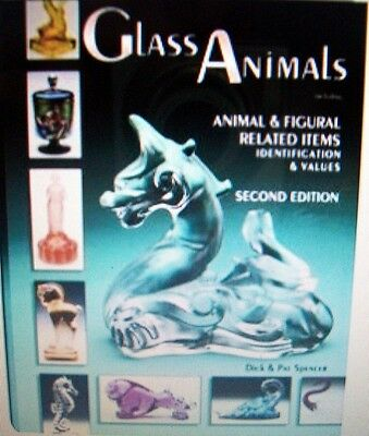ANTIQUE GLASS ANIMALS Price Guide Collector's BOOK Horse Swan Hen Duck Dog