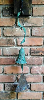 "Paolo Soleri Bronze Bell Wind Chime 22"" Long"
