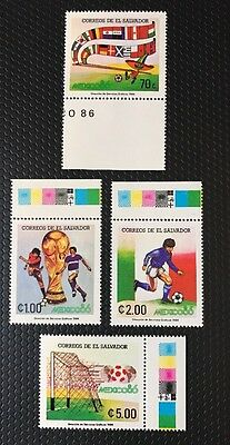 El Salvador Stamps Mexico World Cup 1986 MNH