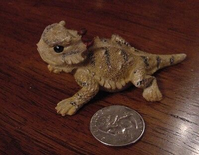 Small Horned Lizard Toad Frog Figurine Texas Souvenir