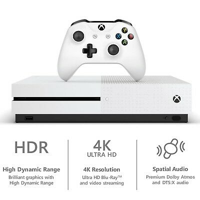 🔥 New Microsoft Xbox One S 1TB White Gaming Console w/Controller Ship Fast