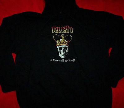 Rush Hoodie Sweatshirt Farewell To Kings Black Size Large