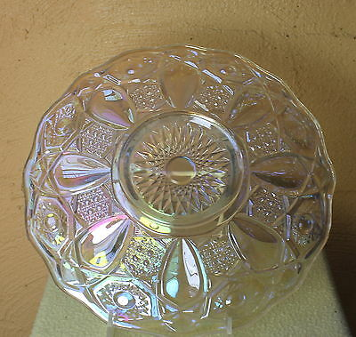 WHITE CARNIVAL GLASS HERITAGE PLATE x SMITH