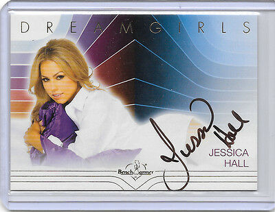 2017 17 Benchwarmer Dreamgirls Jessica Hall Gold Foil Auto Autograph On Card Hot