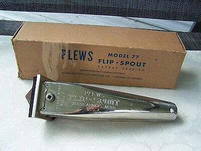 Vintage Plews Model 77 Flip Spout For Automotive Oil Can - New Old Stock In Box