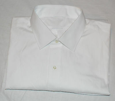 New Brooks Brothers Men 17 ½ 33 White Button Spread Non-Iron Supima Dress Shirt