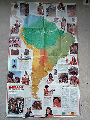 National Geographic Map:  Indians of South America