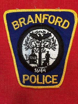 Branford Police Iron On Patch⚡️Excellent Condition⚡️FREE SHIPPING