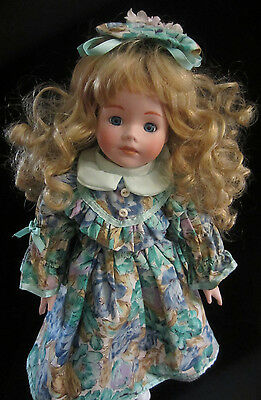 """Vintage 16"""" Victorian Character Doll. Bisque Head Arms & Legs. Beautiful!"""