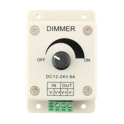Ajustable 8A LED tira luz interruptor Dimmer brillo regulador de 12V Intensidad