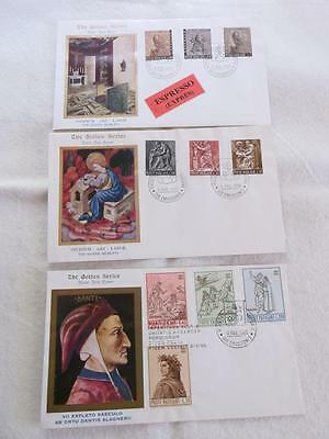 Vatican 1965-66 3 X Fdc The Golden Series  Rs